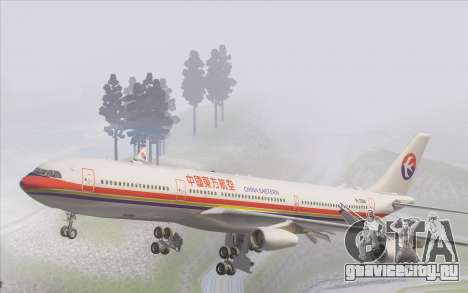 Airbus A340-300 China Eastern для GTA San Andreas салон