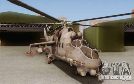 Mi-24D Hind from Modern Warfare 2 для GTA San Andreas вид слева