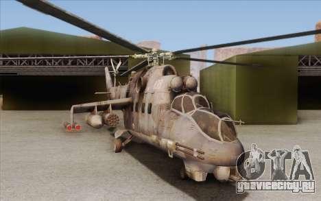 Mi-24D Hind from Modern Warfare 2 для GTA San Andreas вид слева