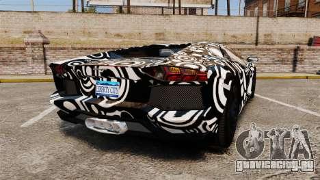 Lamborghini Aventador LP700-4 2012 [EPM] Circle для GTA 4 вид сзади слева