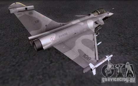 Dassault Rafale M для GTA San Andreas вид сверху