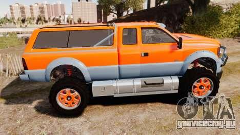 GTA V Vapid Sandking XL wheels v2 для GTA 4 вид слева