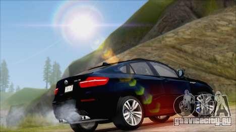 BMW X6M E71 2013 300M Wheels для GTA San Andreas вид сзади