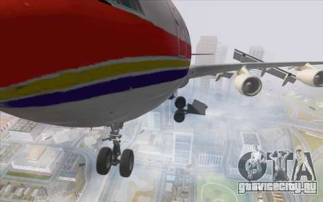 Airbus A340-300 China Eastern для GTA San Andreas вид сзади
