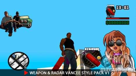 Оружие и радар VanCee Style Pack v1 для GTA San Andreas десятый скриншот