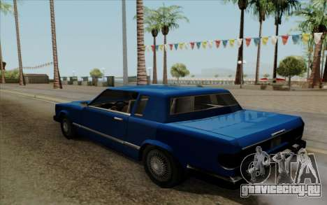 Feltzer с жёсткой крышей для GTA San Andreas вид сзади слева