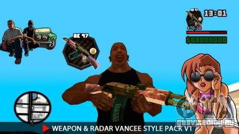 Оружие и радар VanCee Style Pack v1 для GTA San Andreas седьмой скриншот