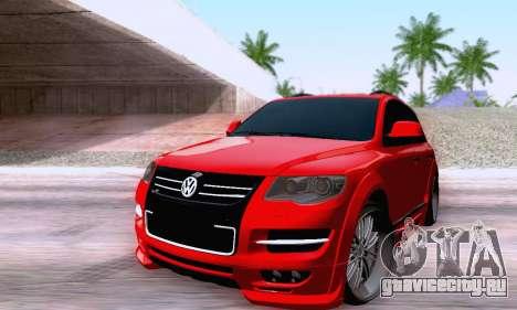 Volkswagen Touareg Mansory для GTA San Andreas вид сзади слева