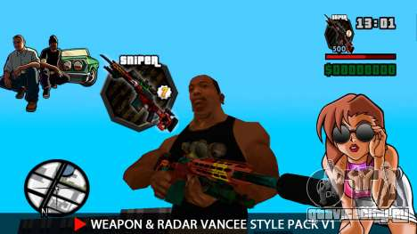 Оружие и радар VanCee Style Pack v1 для GTA San Andreas восьмой скриншот
