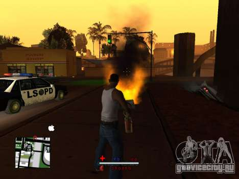 C-HUD by SaMoGoN для GTA San Andreas второй скриншот
