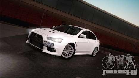 Mitsubishi Lancer Evolution для GTA San Andreas