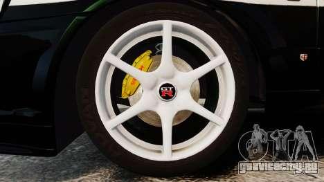 Nissan Skyline GT-R R34 Saitama Police для GTA 4 вид сзади