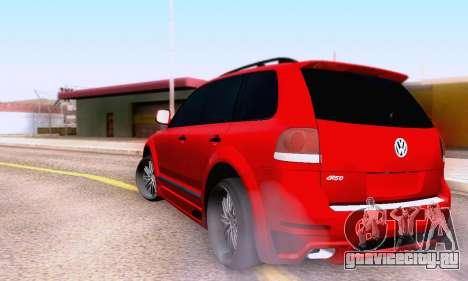Volkswagen Touareg Mansory для GTA San Andreas вид сзади
