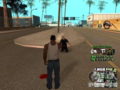 С-HUD Grove Street для GTA San Andreas третий скриншот