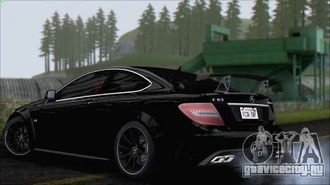 Mercedes C63 AMG Black Series 2012 для GTA San Andreas вид справа