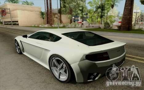 Rapid GT для GTA San Andreas вид сзади