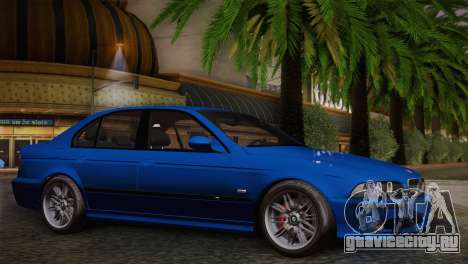BMW E39 M5 2003 для GTA San Andreas вид сзади