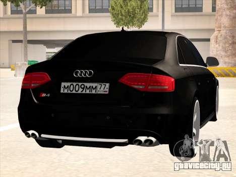 Audi S4 для GTA San Andreas вид изнутри