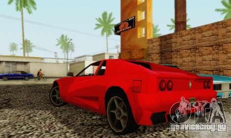 New Cheetah v1.0 для GTA San Andreas вид сзади