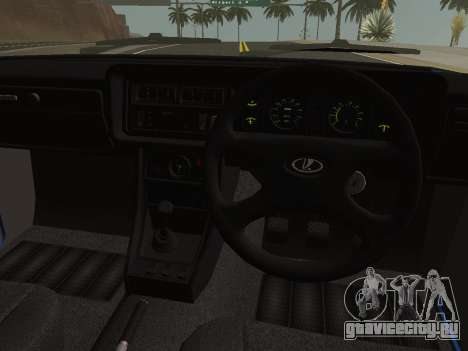 ВАЗ-2107 Riva для GTA San Andreas вид сзади