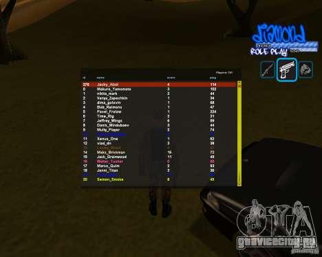 C-Hud Diamond RP для GTA San Andreas третий скриншот