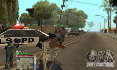 C-HUD Grove by Krutoyses для GTA San Andreas