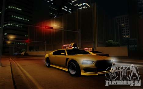 Buffalo Taxi для GTA San Andreas вид сзади