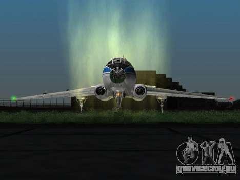 Ту-104А для GTA San Andreas вид слева