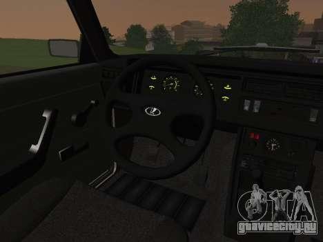 ВАЗ-2107 для GTA San Andreas вид сбоку