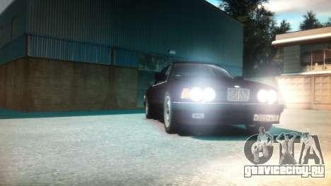 BMW 735iL E32 ver 2 для GTA 4 вид сзади
