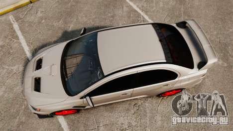 Mitsubishi Lancer Evolution X FQ400 для GTA 4 вид справа
