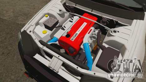 Nissan Skyline GT-R R34 Saitama Police для GTA 4 вид изнутри