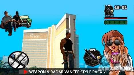 Оружие и радар VanCee Style Pack v1 для GTA San Andreas шестой скриншот