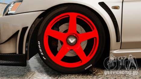 Mitsubishi Lancer Evolution X FQ400 для GTA 4 вид сзади