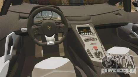 Lamborghini Aventador LP700-4 2012 [EPM] Circle для GTA 4 вид изнутри