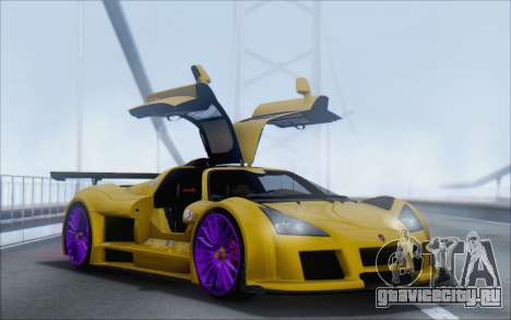Gumpert Apollo S Autovista для GTA San Andreas вид слева
