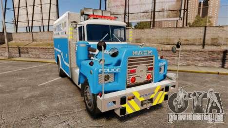 Mack R Bronx 1993 NYPD Emergency Service [ELS] для GTA 4