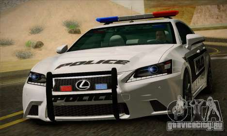 Lexus GS350 F Sport Series IV Police 2013 для GTA San Andreas вид слева