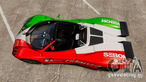 Pagani Zonda C12 S Roadster 2001 PJ6 для GTA 4 вид справа