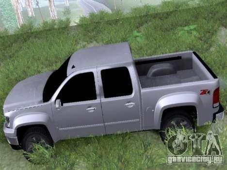 GMC Sierra SLT для GTA San Andreas вид сзади слева