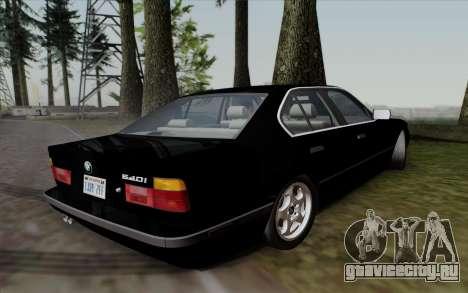 BMW 540i (E34) для GTA San Andreas вид сзади слева