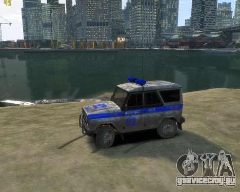 УАЗ 315195 Hunter Полиция для GTA 4 вид слева