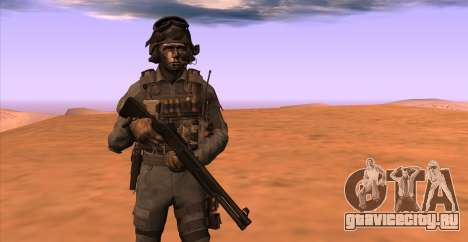 Lt. David Hesh Walker из Call Of Duty: Ghosts для GTA San Andreas