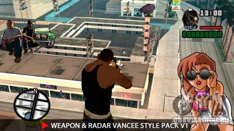Оружие и радар VanCee Style Pack v1 для GTA San Andreas