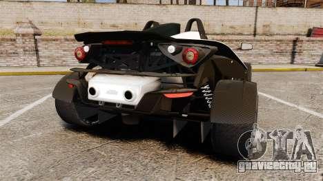 KTM X-Bow R для GTA 4 вид сзади слева