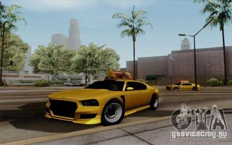 Buffalo Taxi для GTA San Andreas вид сзади слева