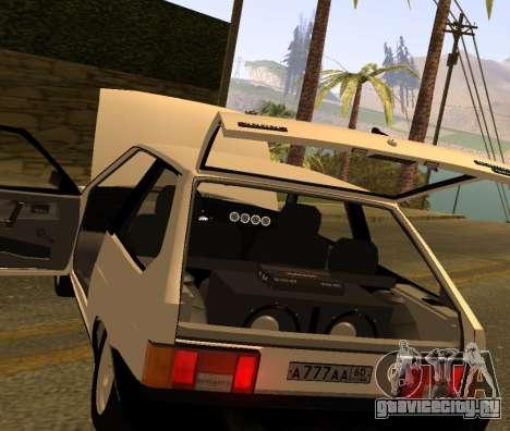 ВАЗ 2108 GVR Version 2.0 для GTA San Andreas вид сзади
