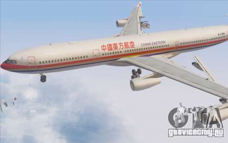 Airbus A340-300 China Eastern для GTA San Andreas вид сверху
