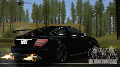 Mercedes C63 AMG Black Series 2012 для GTA San Andreas вид слева