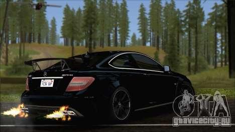 Mercedes C63 AMG Black Series 2012 для GTA San Andreas вид слева